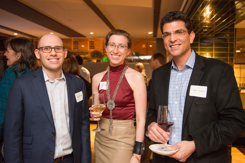 Switzer Fellows Max Parness and Rebecca Dell with keynote speaker and Switzer Fellow Jason Grumet (right)
