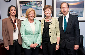 Switzer Executive Director Lissa Widoff with Representative Chellie Pingree and other Maine delegation members