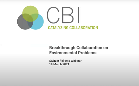 Breakthrough Collaboration on Environmental Problems: Lessons from the field on engaging communities, building consensus and managing conflict on environmental issues