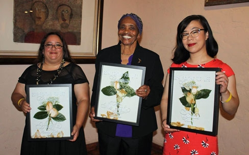 Candice Kim (far right) with other honorees.